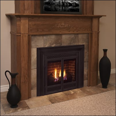 the dvb series of fireplaces offers a classic fireplace design in a