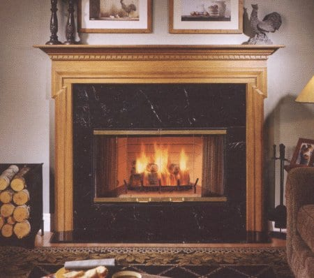 Of in what front rug type of fireplace