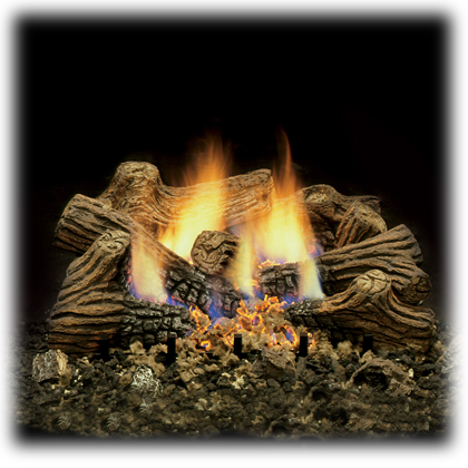 clean burning vent free gas logs