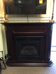 "4"" Chesapeake Vent Free Natural Gas Fireplace System w/ Mantel"