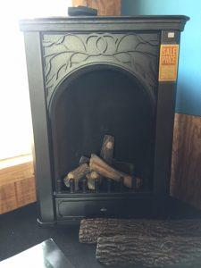 Parlor Vent Free LP Corner Fireplace
