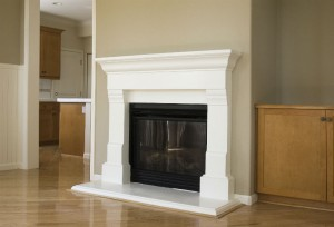 Wood-burning or gas fireplace inserts are an easy way to upgrade your fireplace space